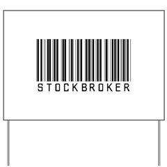 Stockbroker Barcode Yard Sign