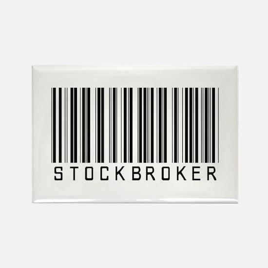 Stockbroker Barcode Rectangle Magnet