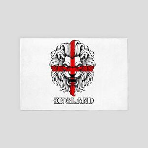English lion 4' x 6' Rug