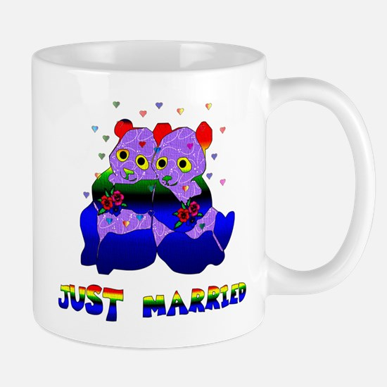 Just Married Bears Mug