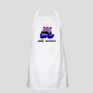 Just Married Bears BBQ Apron