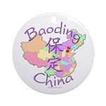 Baoding China Map Ornament (Round)
