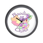 Baoding China Map Wall Clock