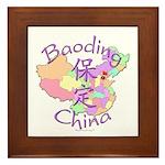 Baoding China Map Framed Tile