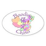 Baoding China Map Oval Sticker (10 pk)