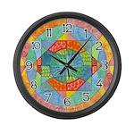 Sacred Geometry Watercolor Large Wall Clock