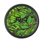 Through the Leaves Watercolor Large Wall Clock