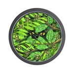 Through the Leaves Watercolor Wall Clock
