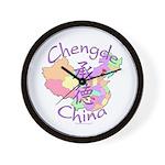 Chengde China Map Wall Clock