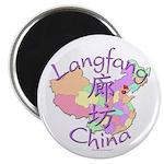 Langfang China Map Magnet