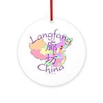Langfang China Map Ornament (Round)