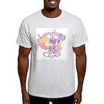 Langfang China Map Light T-Shirt