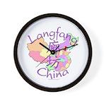 Langfang China Map Wall Clock