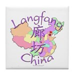 Langfang China Map Tile Coaster