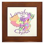 Langfang China Map Framed Tile