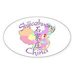 Shijiazhuang China Oval Sticker (10 pk)