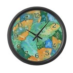 Early Frost Watercolor Large Wall Clock