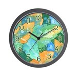 Early Frost Watercolor Wall Clock