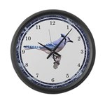 Blue Jay Posed Large Wall Clock