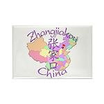 Zhangjiakou China Rectangle Magnet (10 pack)
