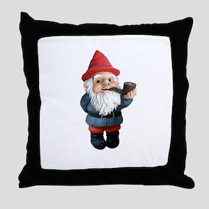 Smoking Pipe Gnome Throw Pillow