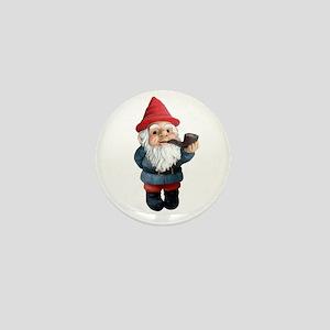 Smoking Pipe Gnome Mini Button