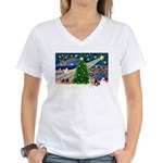 XmasMagic/G Shepherd #10 Women's V-Neck T-Shirt