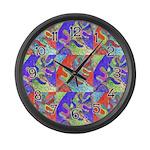 Multicolor Oak Leaf Art Large Wall Clock
