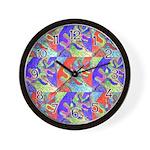 Multicolor Oak Leaf Art Wall Clock