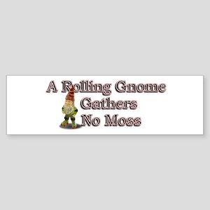 A Rolling Gnome Sticker (Bumper)
