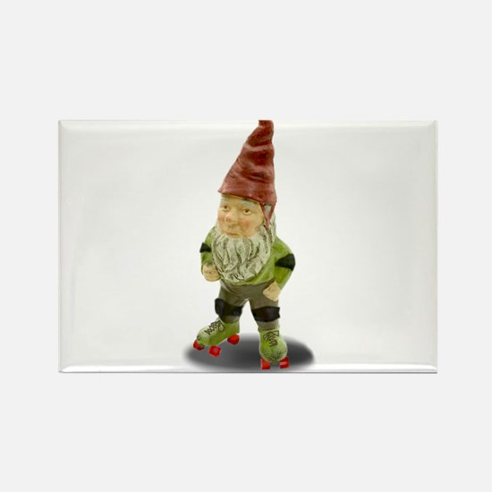 The Rolling Gnome Rectangle Magnet