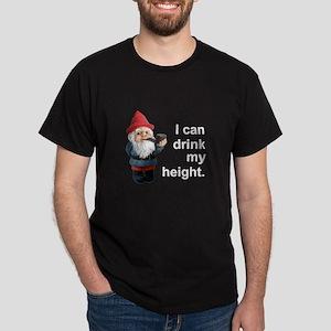 Drink my height, Gnome Dark T-Shirt