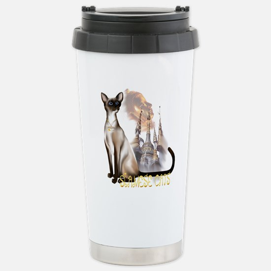 Siamese Cats Stainless Steel Travel Mug
