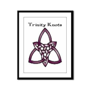 Joe's Trinity Knot Framed Panel Print