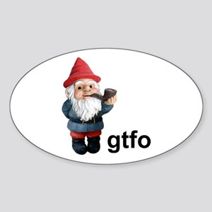 Gnome GTFO Oval Sticker