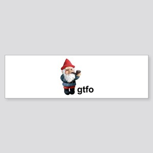 Gnome GTFO Bumper Sticker