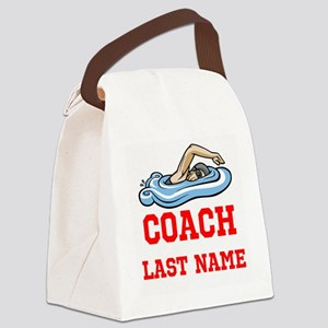 Swimming Coach Canvas Lunch Bag