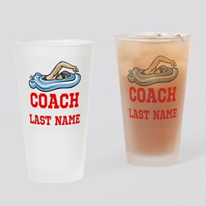 Swimming Coach Drinking Glass
