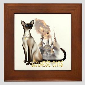Siamese Cats Framed Tile