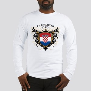 Number One Croatian Dad Long Sleeve T-Shirt