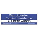 Dead Wrong Bumper Sticker (50 pk)