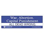 Dead Wrong Bumper Sticker (10 pk)