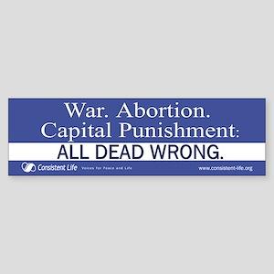 Dead Wrong Bumper Sticker