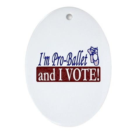 Pro Ballet Vote Oval Ornament
