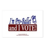 Pro Ballet Vote Postcards (Package of 8)