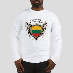 Proud to be Lithuanian Long Sleeve T-Shirt