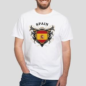 Spain White T-Shirt