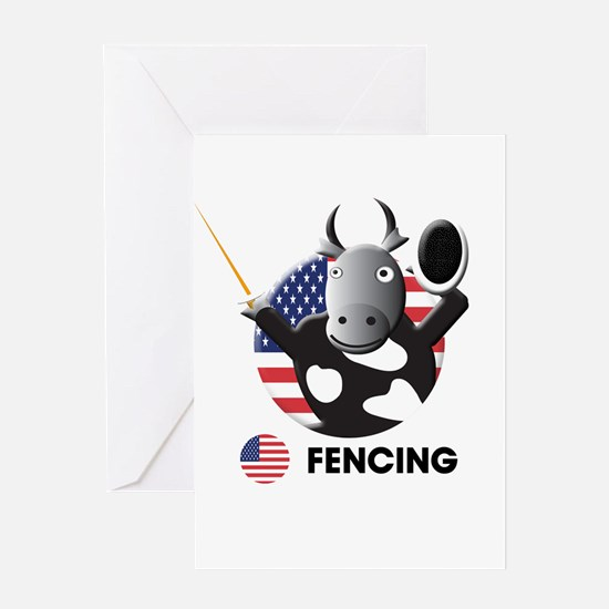 fencing Greeting Card