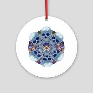 Skull Mandala Ornament (Round)