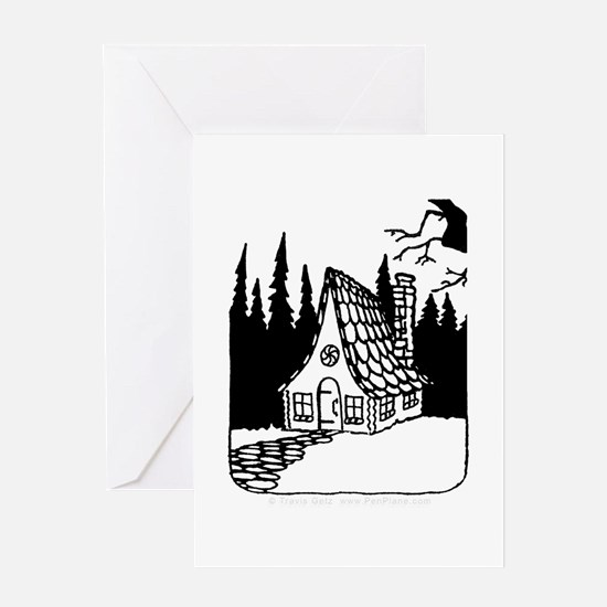'Gingerbread House' Greeting Card